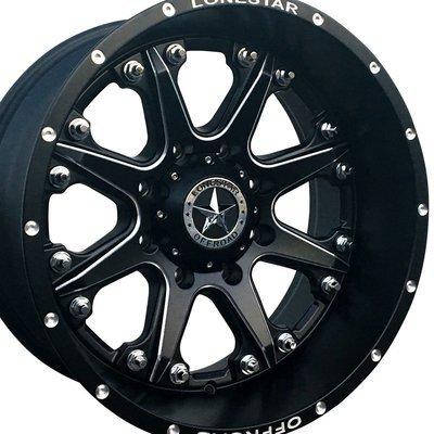 20x10 Matte Black Bandit Wheel, 8x180, Chevy 8 lug