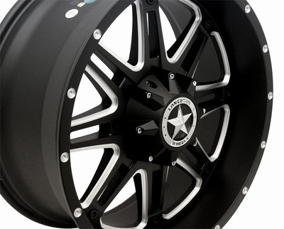 18x9 Matte Lonestar Black Outlaw Wheel, 8x180mm Chevy 2500