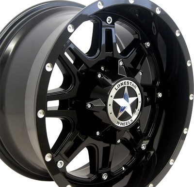 18x9 Gloss Black Lonestar Outlaw Wheel, 8x180mm, Chevy 2500