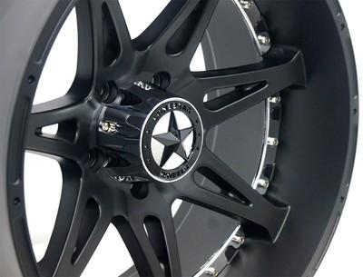 20x10 Matte Black Warrior Wheel, 6x5.5 (6x139.7mm), Chevrolet Silverado