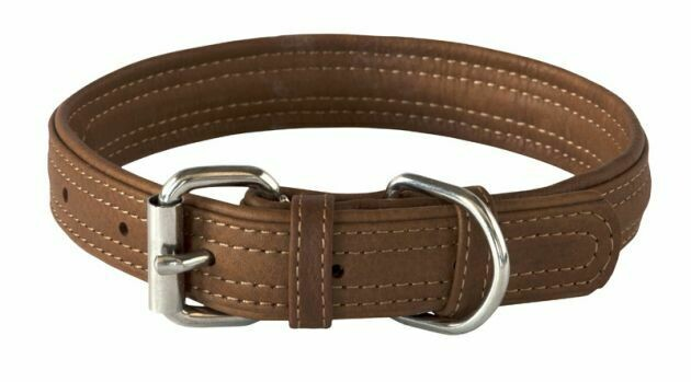 Rogz Leather - Buckle Collar Brown