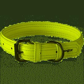 Rogz Leather - Buckle Collar Lime