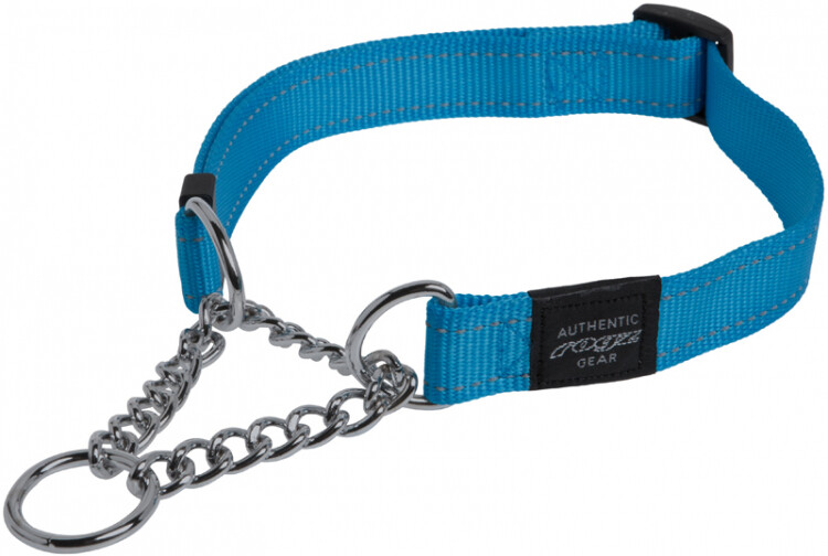 Snake Obedience Collar Turqoise Med