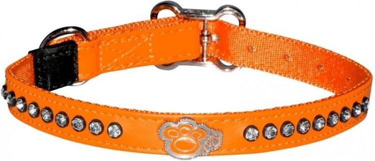 Rogz Luna Collar Orange Paw