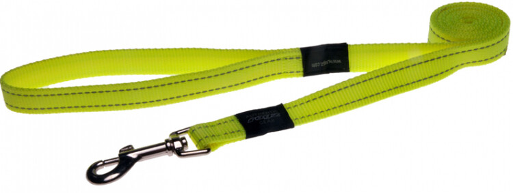 Rogz Utility Snake Medium Dog Lead Day Glow - Yellow