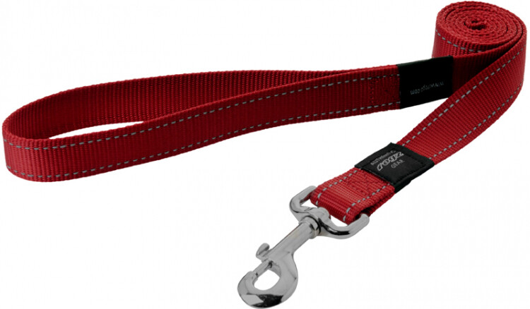 Rogz Utility Snake Medium Dog Lead Red