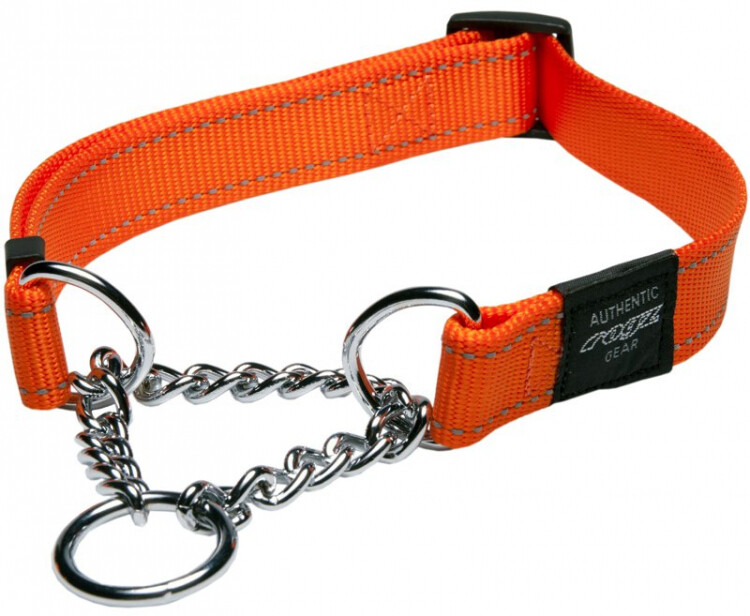 Utility Control Obedience Collar Reflective Orange - Large