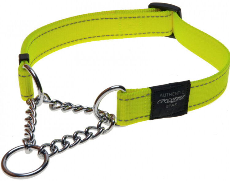 Snake Obedience Collar Day Glow Yellow Med