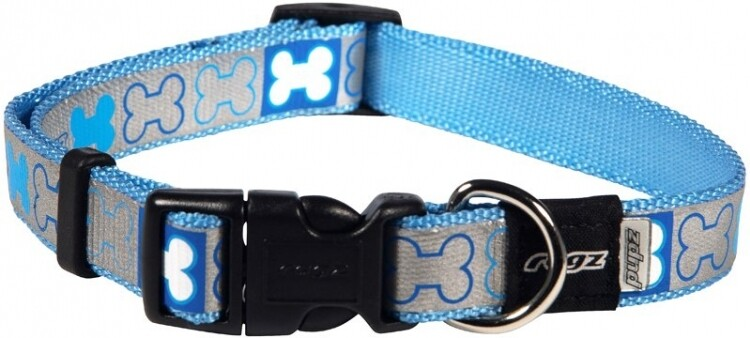 Rogz Pupz Reflecto Collar. Blue and Pink