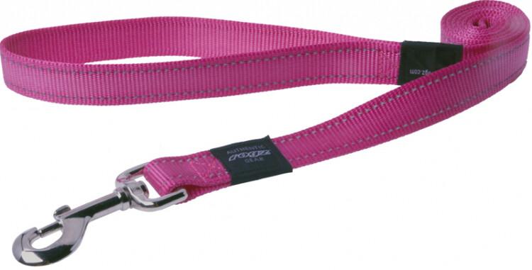 Rogz Utility Snake Medium Dog Lead Pink