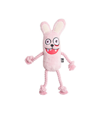 PSYCHO BUNNY PLUSH ROPE TOY WITH SQUEAKER