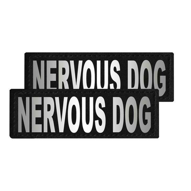 """""""Nervous Dog"""" Reflective Patch"""
