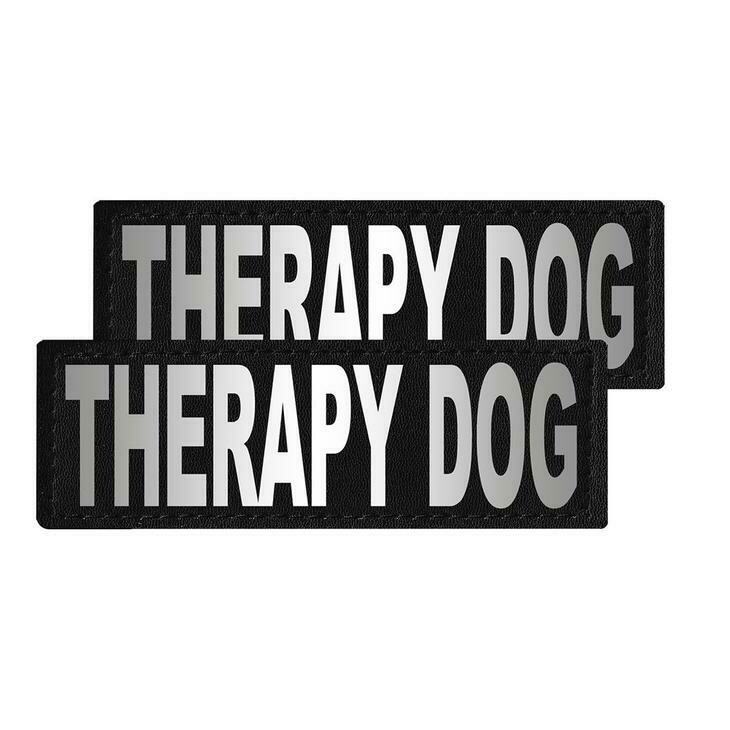 """Therapy Dog"" Reflective Patch"