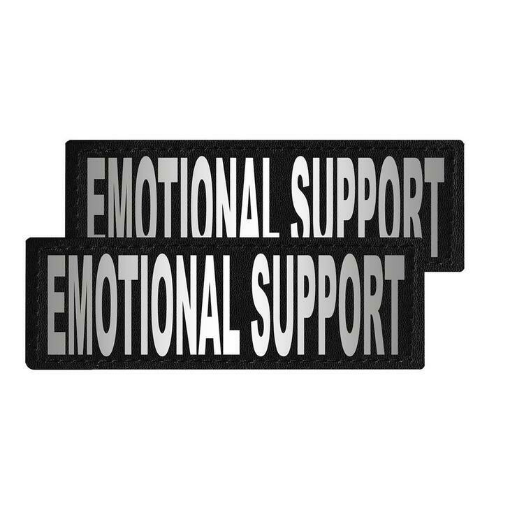 """Emotional Support"" Reflective Patch"