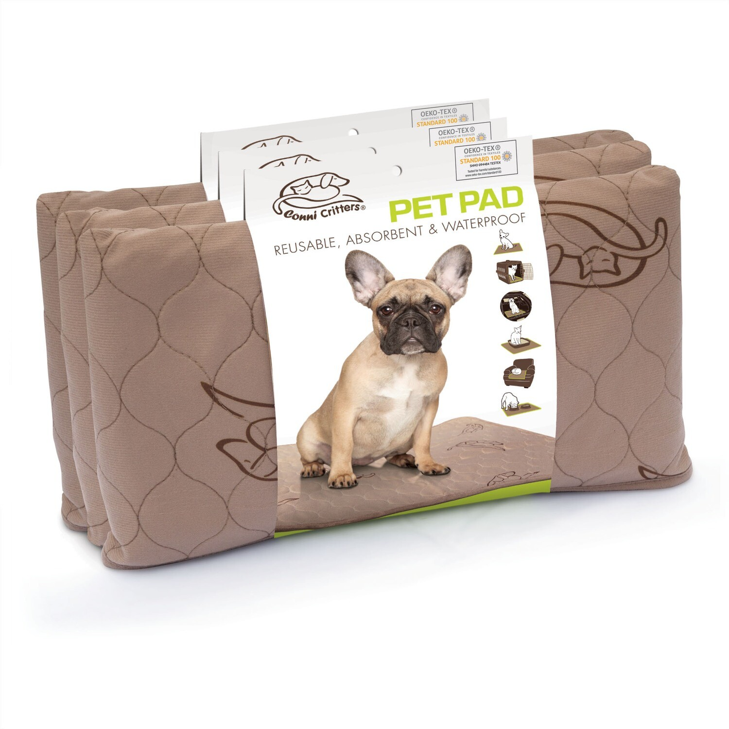 Conni Critters Pet Pad – 3 Pack_ Small