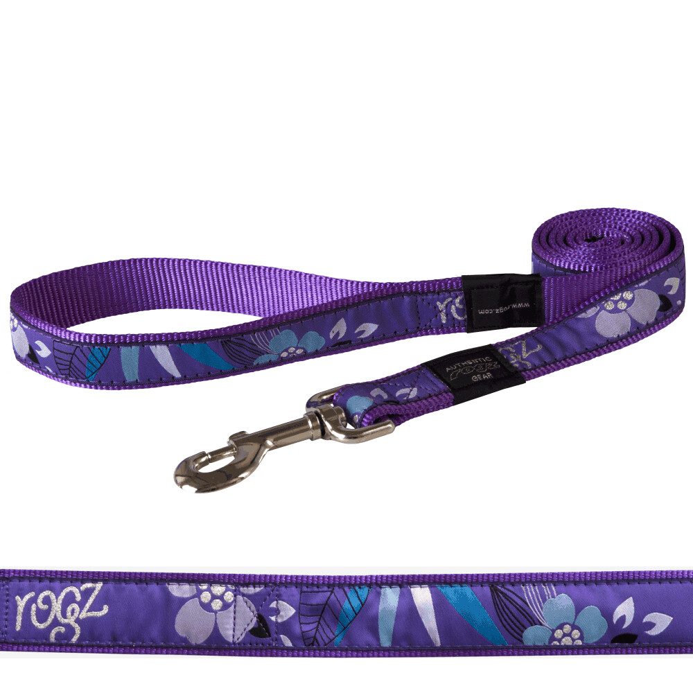 Rogz Fancy Dress Lead - Purple Forest