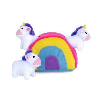 Zippy Paws Burrow - Unicorn in Rainbow