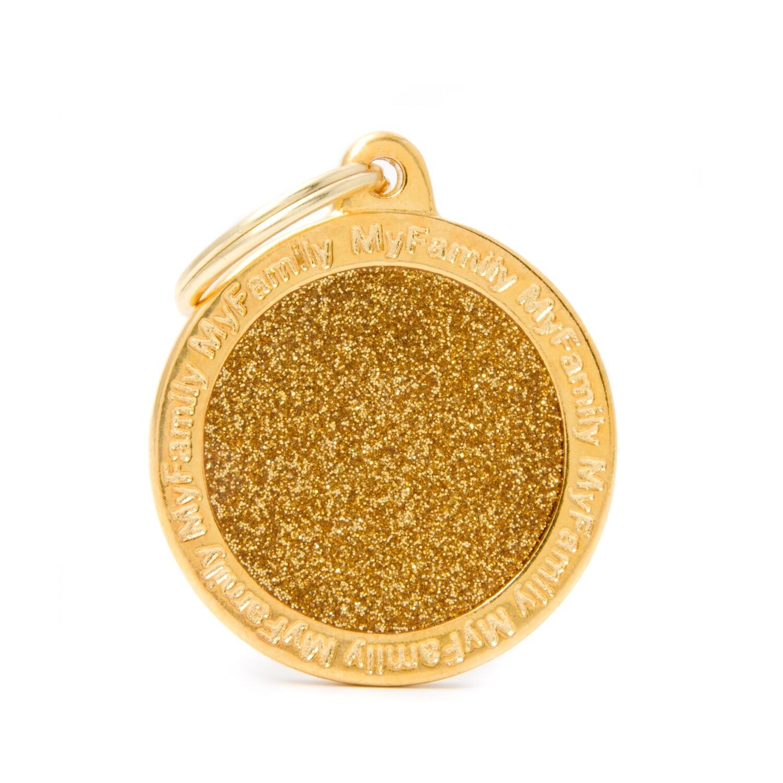 My Family Shine Circle Gold Large