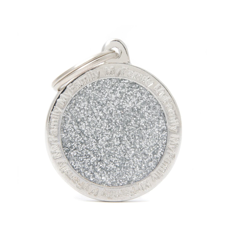 My Family Shine Circle Silver Large