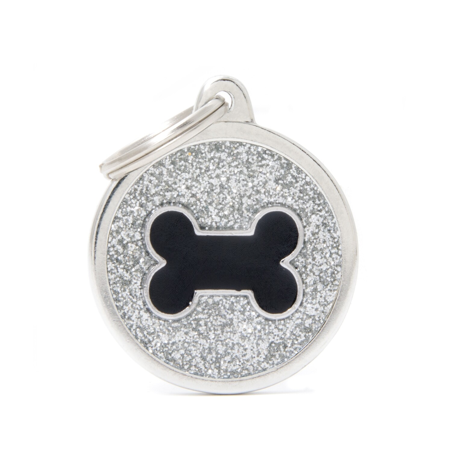My Family Shine Silver Circle with Bone
