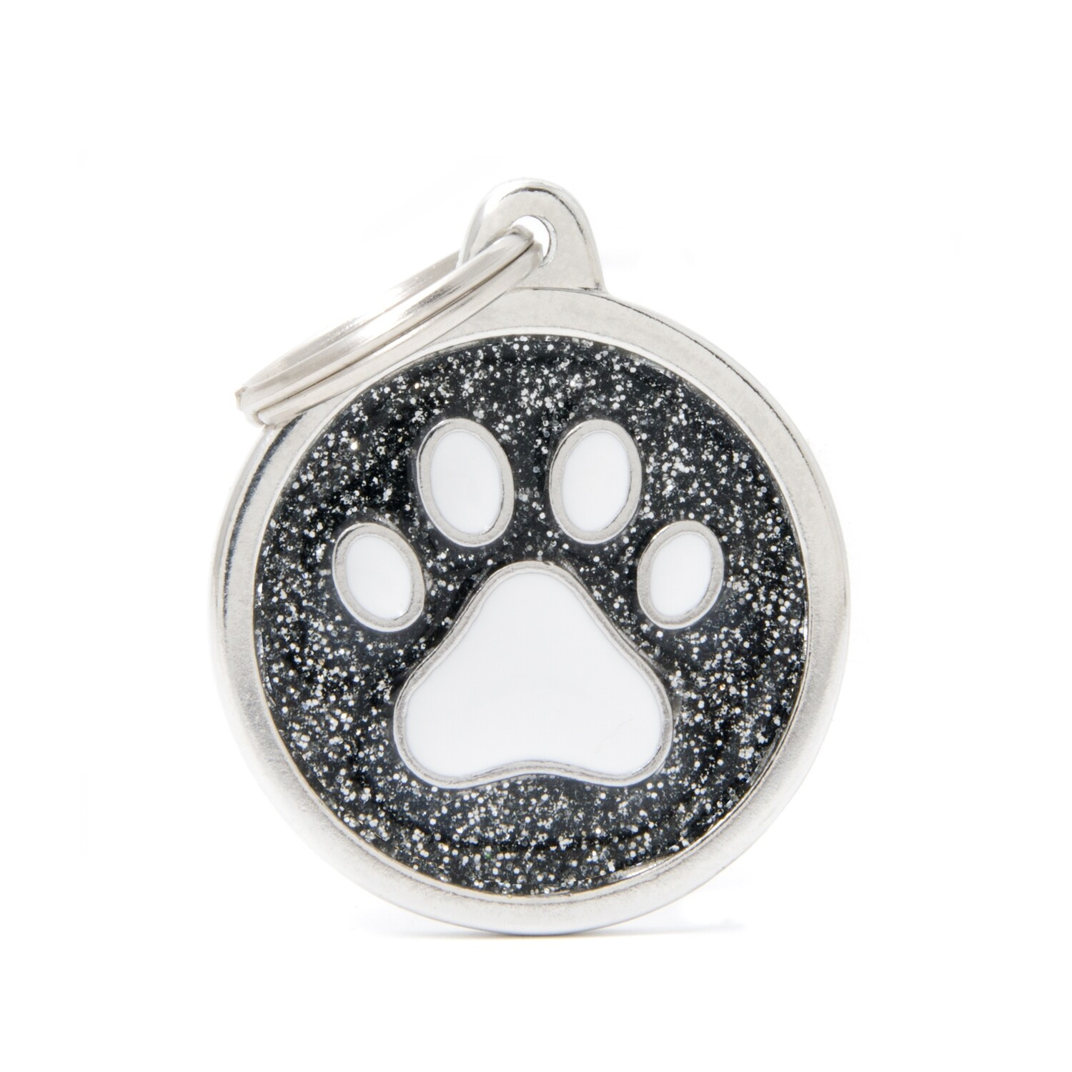My Family Shine Black Circle with Paw