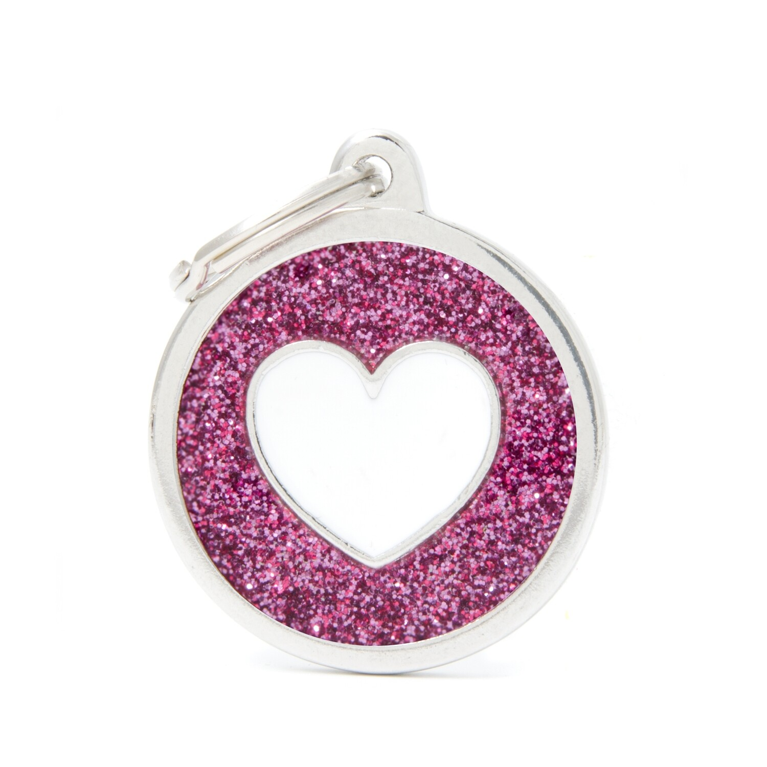 My Family Shine Pink Circle with Heart