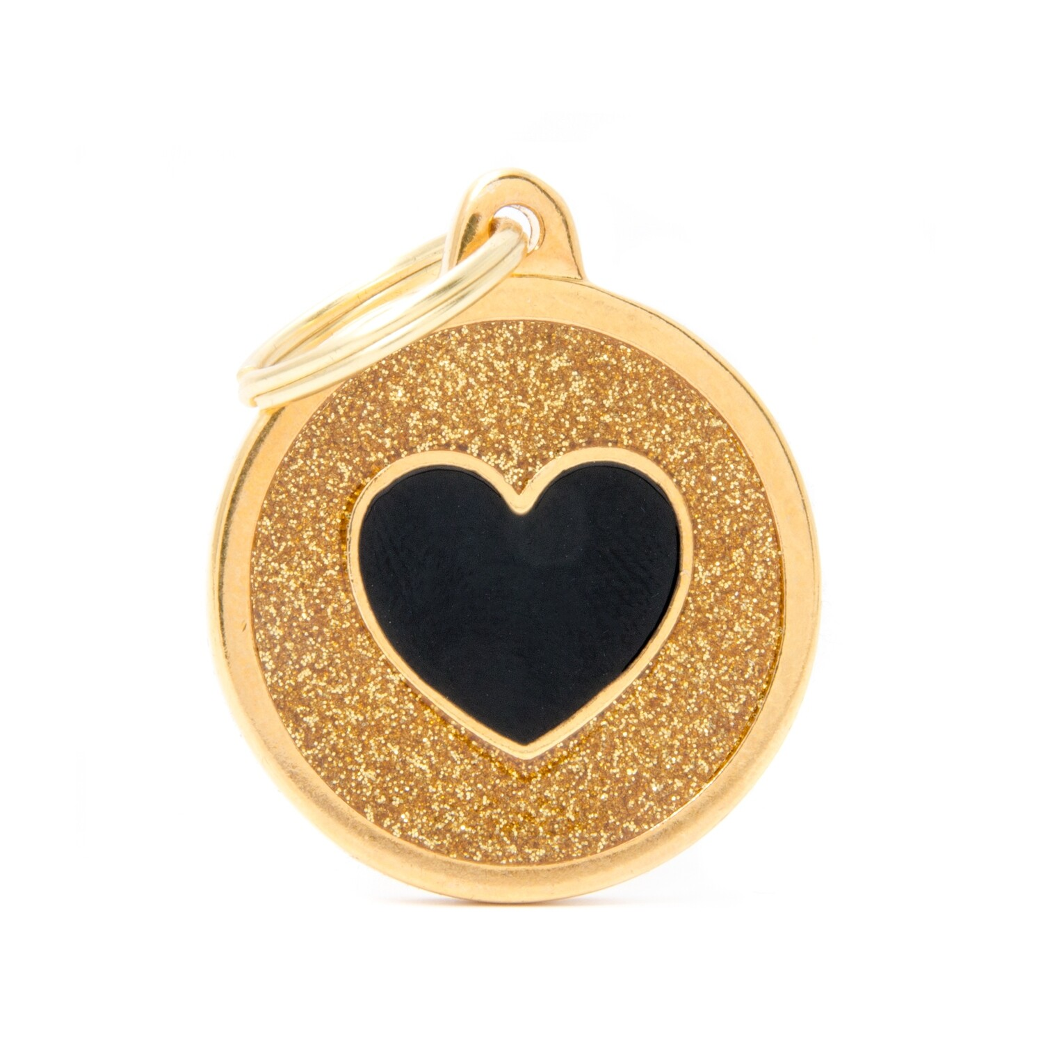 My Family Shine Gold Circle with Heart