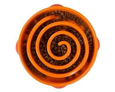 Outward Hound Fun Feeder, Slow Feeder Dog Bowl -Orange