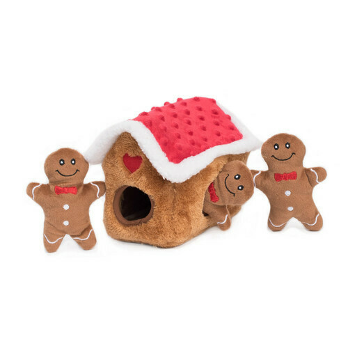 Zippy Paws Holiday Burrow - Gingerbread House
