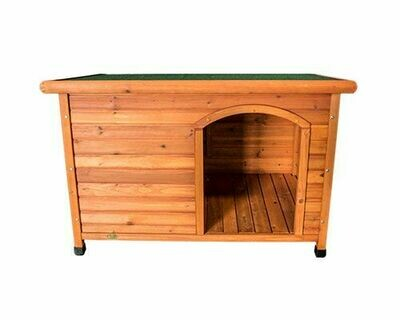 Dog Kennel Wooden Side Entry  Hinged Roof