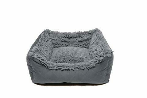 Dirty Dog Lounger Bed.  Grey