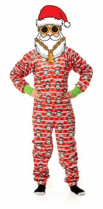 FuzzYard Human Pyjamas Yo Santa