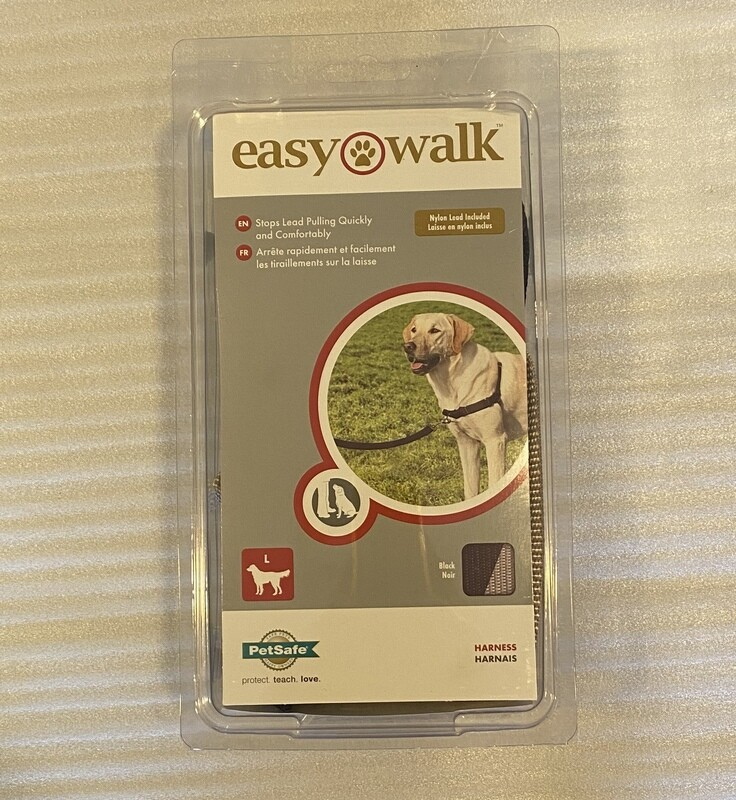 PetSafe Easy Walking Harness - Black and Pewter. Large