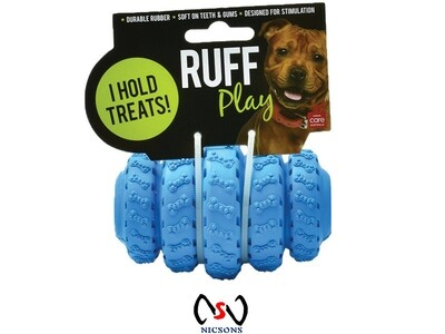 AllPet Dog Toy Ruff Play Tyre Treat Roller