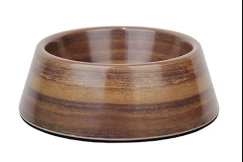 Barkley & Bella Dog Bowl Melamine Medium Acacia Wood