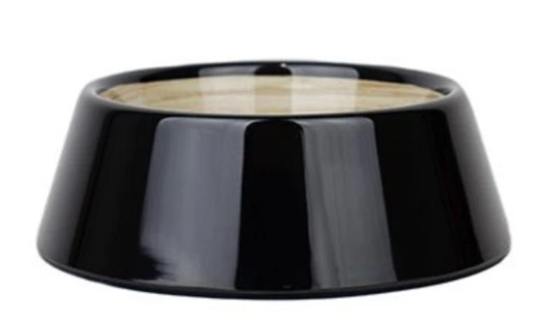Barkley & Bella Dog Bowl Melamine Medium Black Bamboo