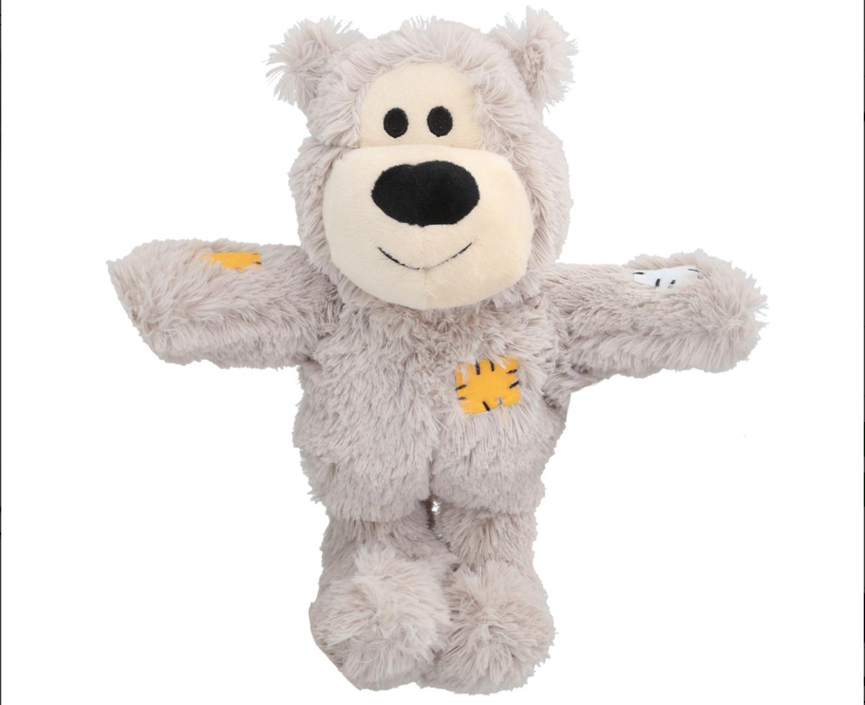KONG Wild Knots Bear Small/Medium - Light Grey