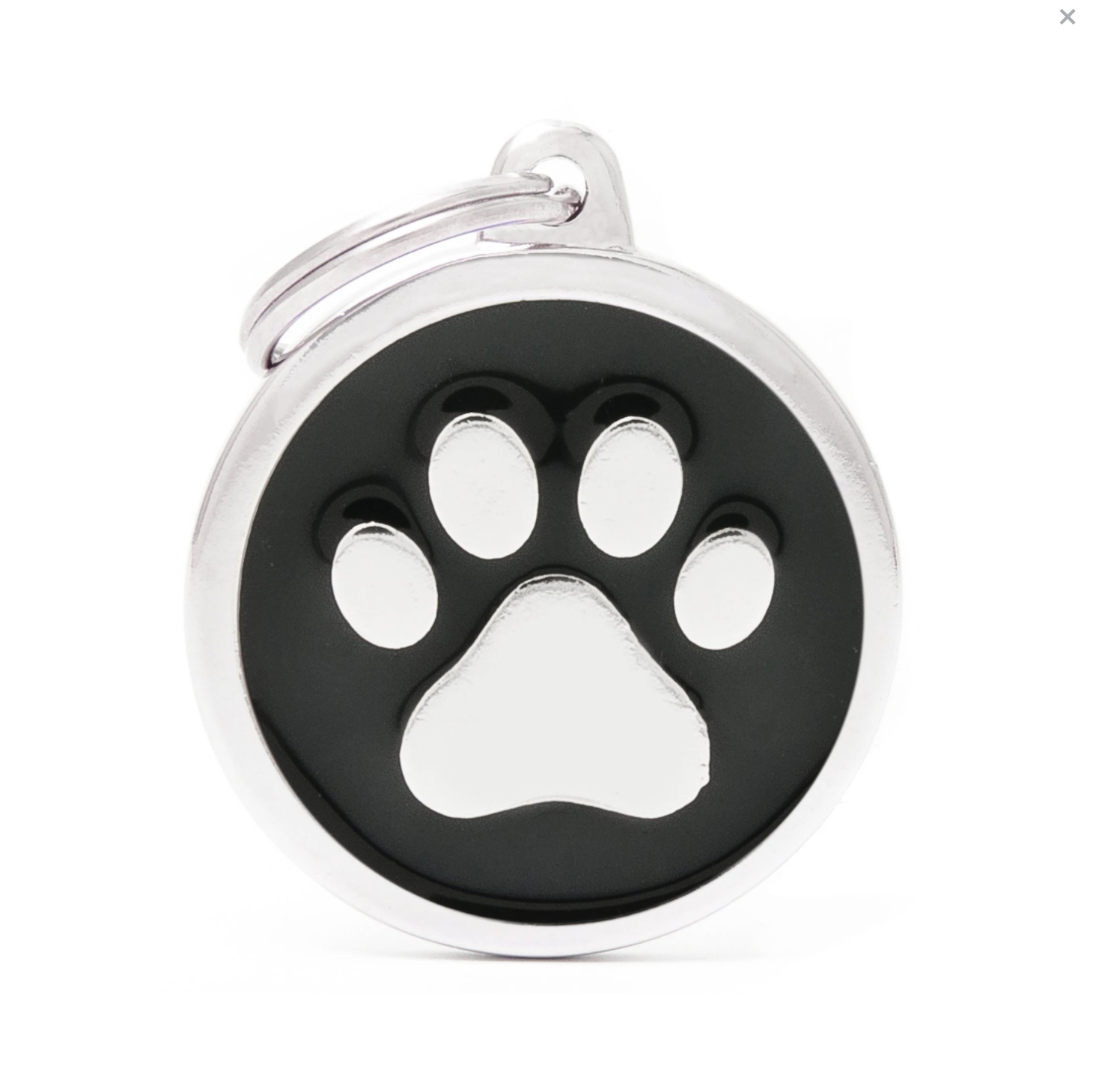 My Family Classic Black Circle with Paw