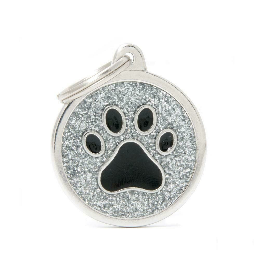 My Family Shine Silver Circle with Paw