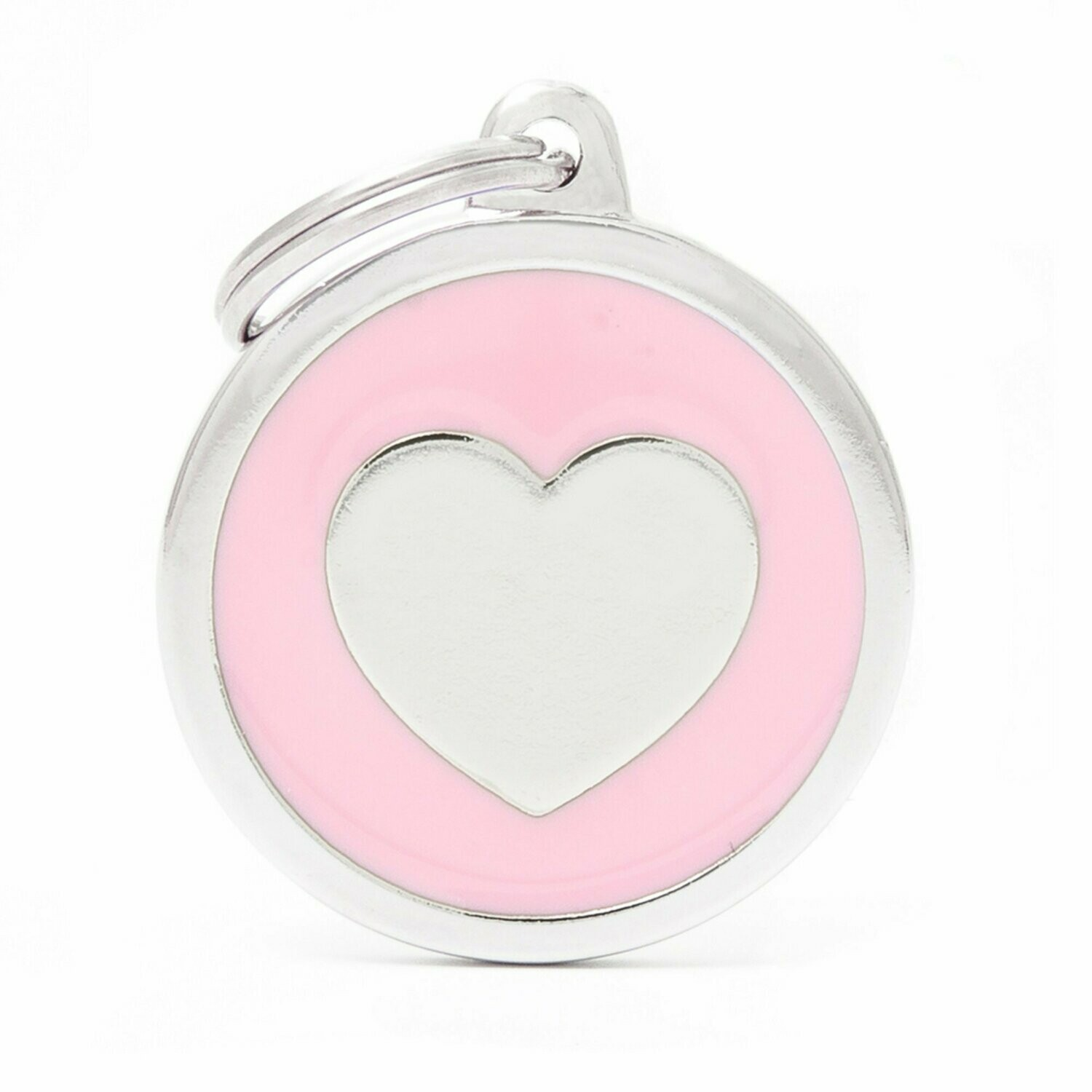 My Family Classic Pink Circle with Heart