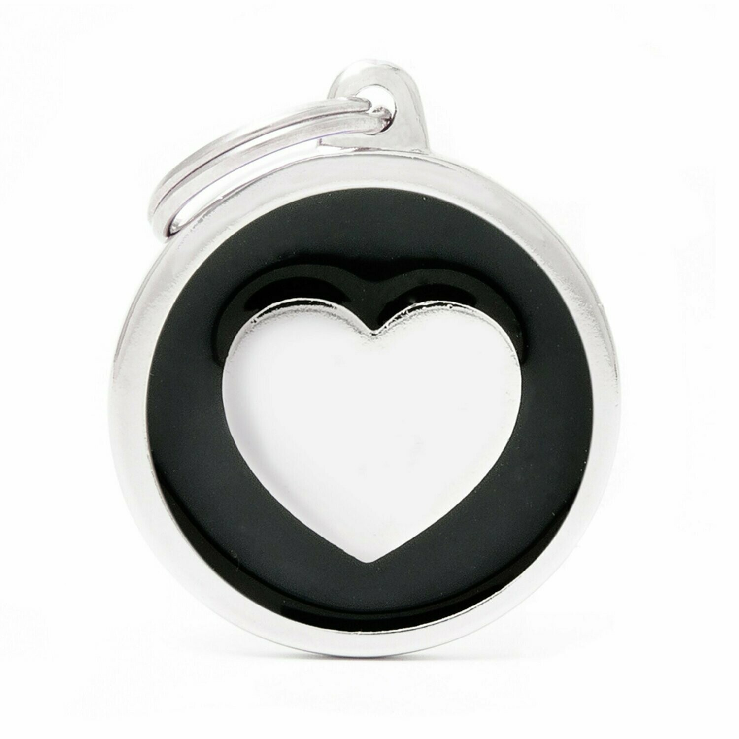 My Family Classic Black Circle with Heart