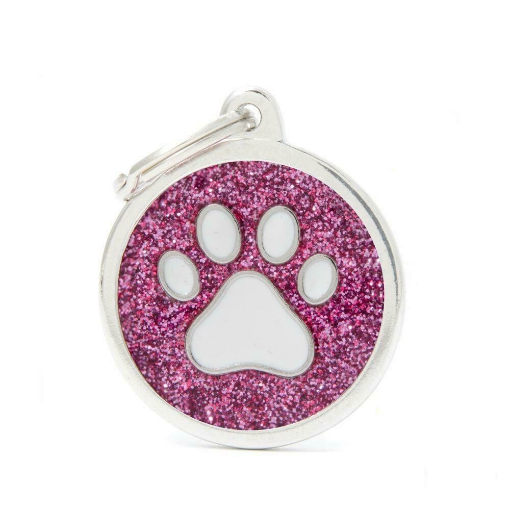 My Family Shine Pink Circle with Paw