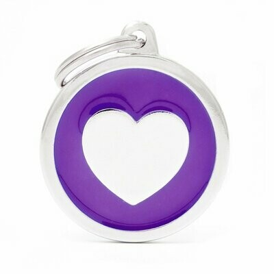 My Family Classic Purple Circle with Heart
