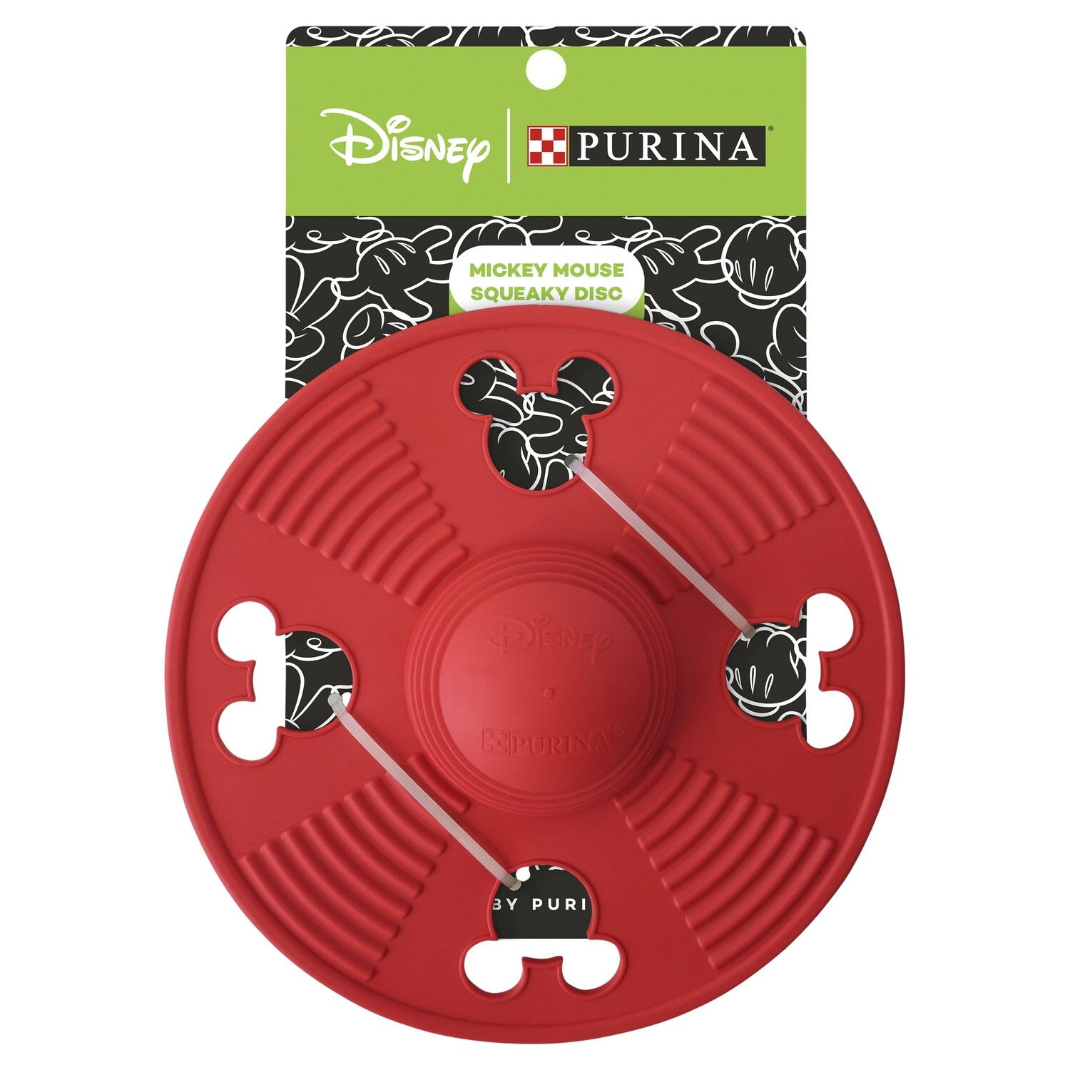 Purina Disney Mickey Mouse Squeaky Disc Dog Toy