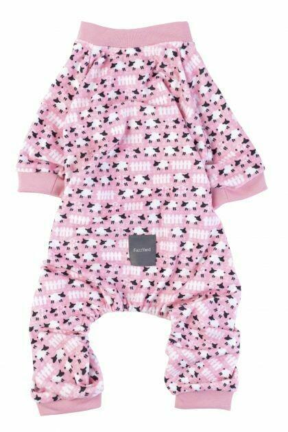 FuzzYard Dog Pyjamas Counting Sheep - Pink