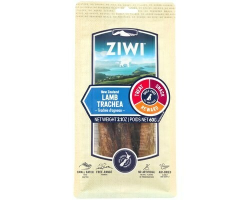 Ziwi Peak Dog  Lamb Trachea, Oral Health Chews 60 grams.