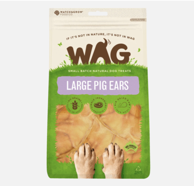 Wag Large Pig Ears 5 Pack.