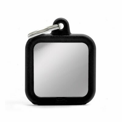 My Family Hush Tag Chromed Black Square with Rubber