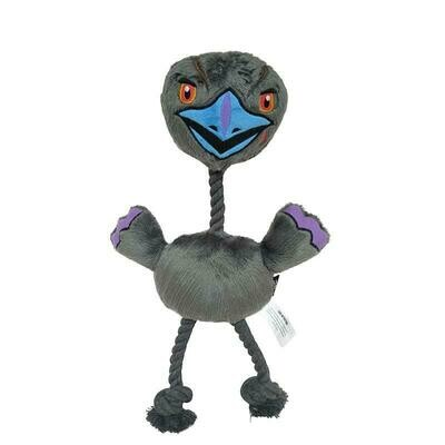 EVIL EMU PLUSH ROPE TOY WITH SQUEAKER