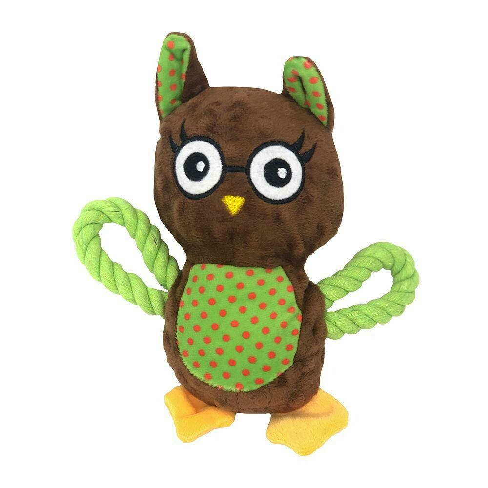 AllPet Snuggle Friend Owl with Rope Wings